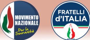 Il Movimento nazionale per sovranità e Fratelli d'Italia
