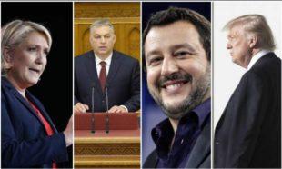 Le Pen Orban Salvini e Trump