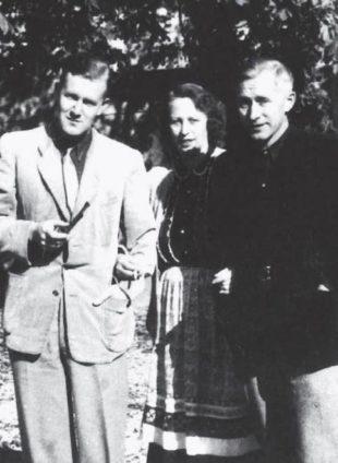 Armin Mohler assieme a Ernst Jünger e Grethe Jensen Jünger