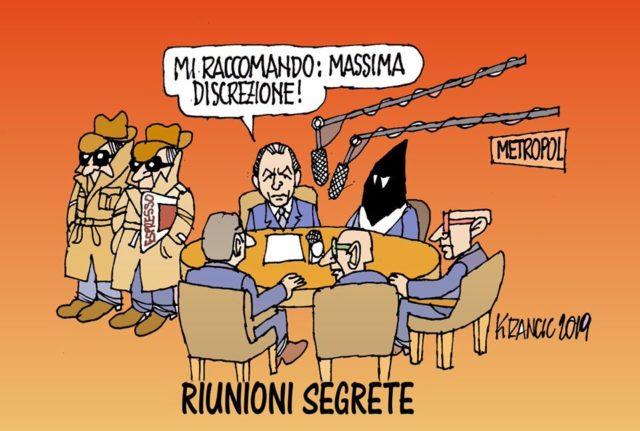 Ecco la vignetta di Krancic sul caso Russia-Lega