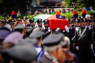 Il funerale a Somma vesuviana di Mario Cerciello Rega