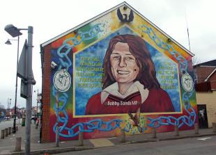 Un murales dedicato al patriota irlandese