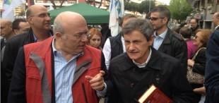 Francesco Storace e Gianni Alemanno, leader del Movimento per la solidarietà