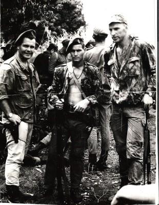 da sinistra-ten.Bruce Alexander, Serg. Swanepoel e cap.Tullio Moneta