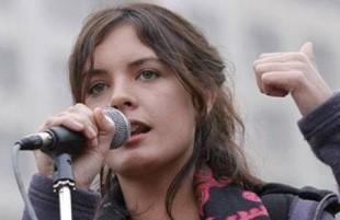Camila Vallejo, neodeputato in Cile nonché rappresentante del movimento studentesco