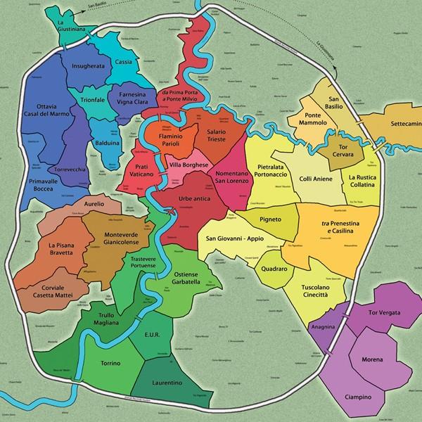 Quartieri Roma Cartina.Il Caso Arriva Rosiko Il Gioco Da Tavola Di Guerra Tra I Quartieri Di Roma Barbadillo