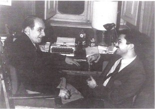 Julius Evola con Gianfranco de Turris