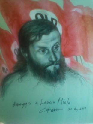 Leucio Miele in un ritratto di Carlo Fusca