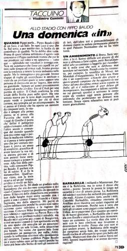 L'articolo del Guerin Sportivo su Barbadillo firmato da Vladimiro Caminiti