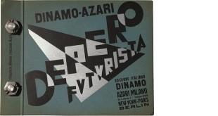Fortunato Depero, Depero Futurista, Milano, Edizione italiana Dinamo Azari, 1927. Copertina dell'A (dal sito della Fondazione Echaurren Salaris)