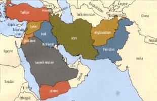 Una cartina del Medio Oriente