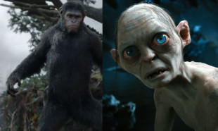 Gollum e Cesare sono animati con la stessa tecnica e impersonati dallo stesso attore, Andy Serkis