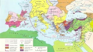 Una carta geografica del Mediterraneo