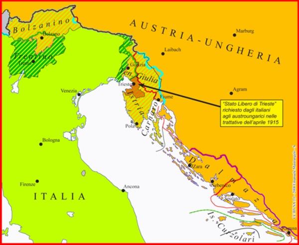 Cartina D Italia 1915.Fondazionean Giovedi Convegno Sul Confine Orientale A Osimo Con Veneziani E Micalessin Barbadillo