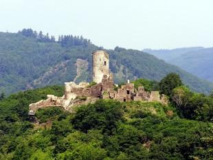 Le rovine del castello di Winneburg