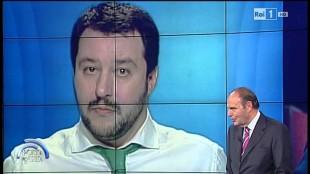 Matteo Salvini a Porta a Porta con Bruno Vespa