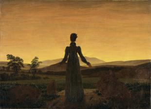 "Caspar David Friederich ""Donna al tramonto del sole"" 1818 Museum Folkwang, Essen"