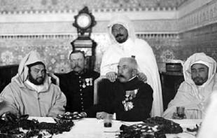 Il generale con il sultano Yussuf