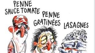 La vignetta del settimanale francese Charlie Hebdo