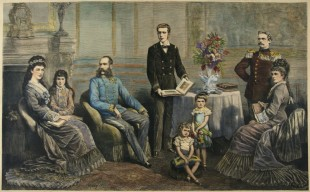 La famiglia dell'imperatore Francesco Giuseppe, intorno al 1880