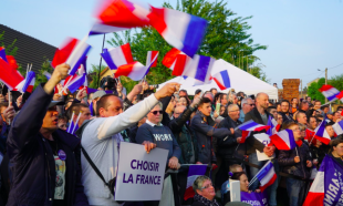Sostenitori sovranisti in Francia
