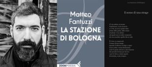 Matteo Fantuzzi e la copertina del suo ultimo libro (foto di  Daniele Ferroni)