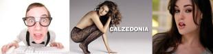Nell'immagine, un ragazzo vestito secondo la moda nerd, un manifesto pubblicitario della Calzedonia, e la nota pornostar Sasha Grey
