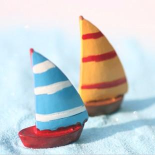 Micro-paesaggio-mini-fumetto-medioevo-europeo-stile-retrò-modello-di-barca-a-vela-regalo-della-decorazione