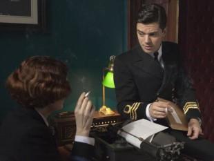 "Dominic Cooper (Captain America, Agent Carter, Double Devil) in Fleming, miniserie in 4 puntate in cui interpreta il ""papà"" di 007 Ian Fleming."