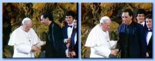 Franco Battiato e Papa Wojtila