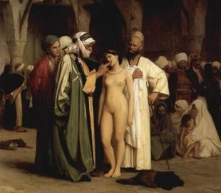 (Il mercato degli schiavi di Jean-Léon Gérôme, 1866)