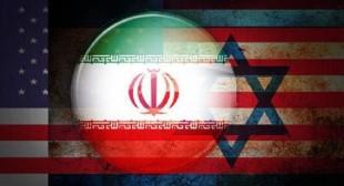 Le bandiere di Usa, Iran e Israele sovrapposte