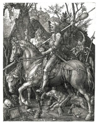 Il Cavaliere, la Morte e Il Diavolo di Durer