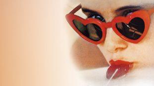 Un particolare del manifesto del film Lolita, nella trasposizione di Stanley Kubrick