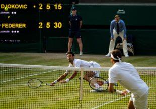 Djokovic e e Federer a Wimbledon