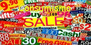 La retorica dei consumi ad ogni costo