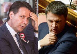 Giuseppe Conte e Matteo Renzi