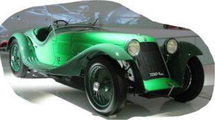 Maserati Tipo V4, 1929. Scoperta da un privato in un deposito, a Roma, e carrozzata spyder da Zagato, 1934. Ha vinto il Premio Villa d'Este nel 2014. Museo Enzo Ferrari, Modena