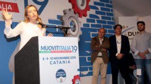 Destre. MuovitItalia 19: Meloni va a Catania da Pogliese e blinda l'alleanza con Musumeci